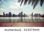 view of corniche and skyline of ... | Shutterstock . vector #413373445