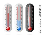 thermometer. vector. celsius... | Shutterstock .eps vector #41338012
