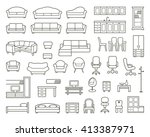 icons of various kinds of... | Shutterstock .eps vector #413387971