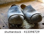 Two Old Dutch Style Clogs In...