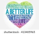 a better life heart word cloud  ... | Shutterstock .eps vector #413405965