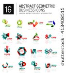 abstract geometric business... | Shutterstock .eps vector #413408515