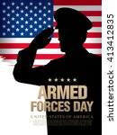 armed forces day template... | Shutterstock .eps vector #413412835