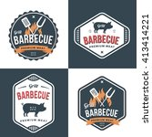 set of badges  labels and logos ... | Shutterstock .eps vector #413414221