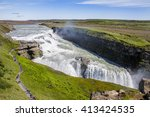 Icelandic Waterfall Gullfoss  ...