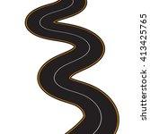 illustration of winding road on ... | Shutterstock . vector #413425765