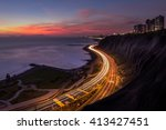 night panoramic view of the... | Shutterstock . vector #413427451