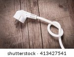 power cable | Shutterstock . vector #413427541