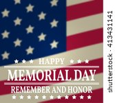 happy memorial day greeting... | Shutterstock .eps vector #413431141