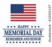 happy memorial day greeting... | Shutterstock .eps vector #413431147
