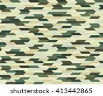 polygonal camouflage seamless... | Shutterstock .eps vector #413442865