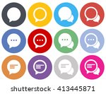 vector set of round... | Shutterstock .eps vector #413445871