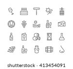 simple set of wine related... | Shutterstock .eps vector #413454091