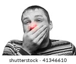 Young Man Having Flu