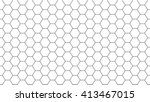 simple seamless hexagonal... | Shutterstock .eps vector #413467015