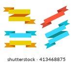 set of ribbons | Shutterstock .eps vector #413468875