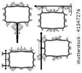 black and white wrought iron... | Shutterstock .eps vector #41347276