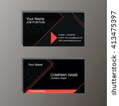 card business black red | Shutterstock .eps vector #413475397