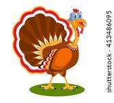 flat vector turkey bird | Shutterstock .eps vector #413486095