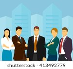 group of business people on a... | Shutterstock . vector #413492779