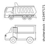 truck design. transportation... | Shutterstock .eps vector #413497171