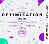 search engine optimization  seo ... | Shutterstock .eps vector #413499304