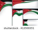 abstract jordan flag  jordanian ... | Shutterstock .eps vector #413500351