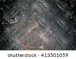 anti slip texture metal plates... | Shutterstock . vector #413501059