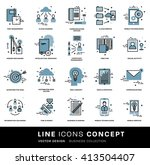 thin line icons set. business...   Shutterstock .eps vector #413504407