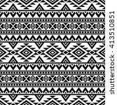 aztec stylized seamless pattern.... | Shutterstock .eps vector #413510851