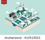 beautiful isometric style... | Shutterstock .eps vector #413515021