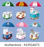 Set Of Mobile Food Umbrella...