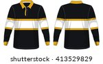 retro rugby jersey | Shutterstock .eps vector #413529829