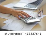 business hand working  and... | Shutterstock . vector #413537641