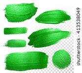 vector green watercolor glitter ... | Shutterstock .eps vector #413538049