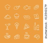 food  line icons vector set.  | Shutterstock .eps vector #413543179