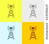 network tower icon on four... | Shutterstock .eps vector #413550619