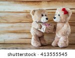 a photo of teddy bear have a... | Shutterstock . vector #413555545