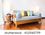 beautiful luxury pillow on sofa ... | Shutterstock . vector #413560759