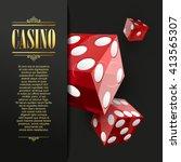 casino background. vector poker ... | Shutterstock .eps vector #413565307