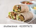 vegetarian falafel wraps with...
