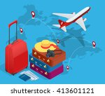 travel concept. greeting card.  ... | Shutterstock .eps vector #413601121