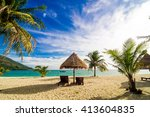 vacation time background of two ... | Shutterstock . vector #413604835