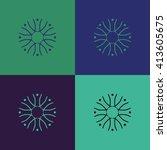 round vector ornament mandala....   Shutterstock .eps vector #413605675