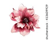 watercolor flower illustration | Shutterstock . vector #413609929
