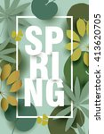 spring card with different... | Shutterstock .eps vector #413620705