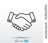 line icon    handshake | Shutterstock .eps vector #413625541