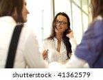 girl on examinination | Shutterstock . vector #41362579