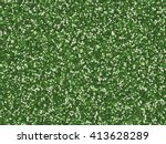 field of grass with flowers... | Shutterstock . vector #413628289