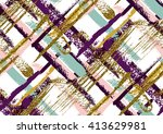 vector seamless pattern with... | Shutterstock .eps vector #413629981